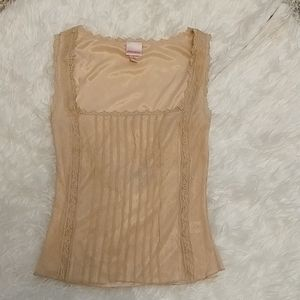 Tan/nude colored lace tank size small